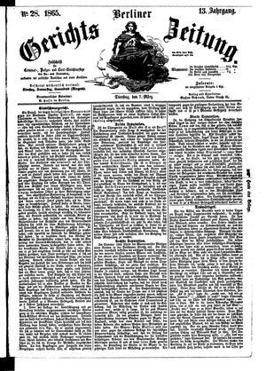 Berliner Gerichts-Zeitung vom 07.03.1865