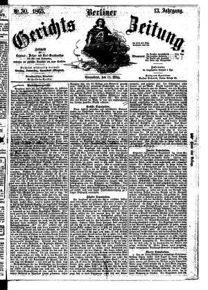 Berliner Gerichts-Zeitung vom 11.03.1865