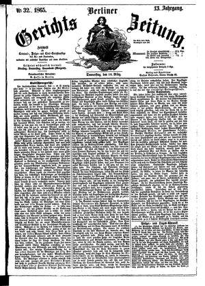 Berliner Gerichts-Zeitung vom 16.03.1865