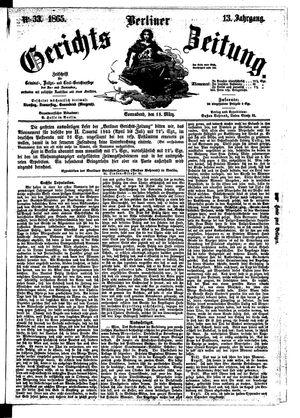 Berliner Gerichts-Zeitung vom 18.03.1865