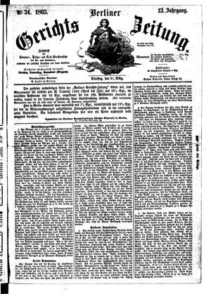 Berliner Gerichts-Zeitung vom 21.03.1865