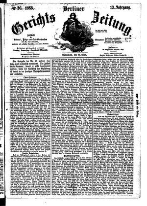 Berliner Gerichts-Zeitung vom 25.03.1865