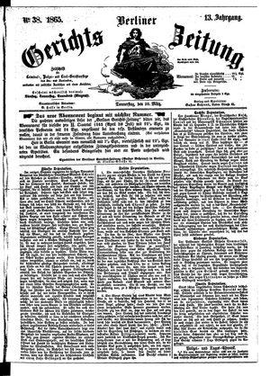 Berliner Gerichts-Zeitung vom 30.03.1865