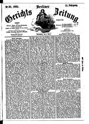 Berliner Gerichts-Zeitung vom 01.04.1865