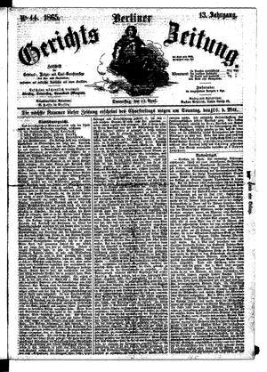Berliner Gerichts-Zeitung vom 13.04.1865