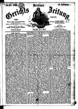 Berliner Gerichts-Zeitung vom 27.04.1865