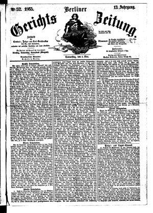 Berliner Gerichts-Zeitung vom 04.05.1865