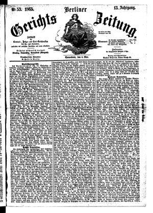 Berliner Gerichts-Zeitung vom 06.05.1865