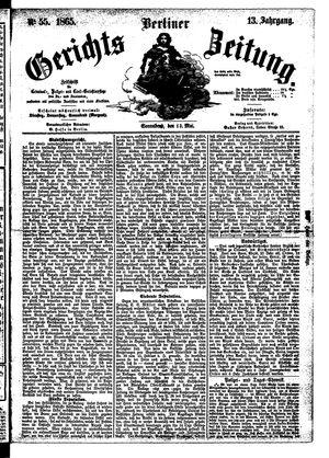 Berliner Gerichts-Zeitung vom 13.05.1865