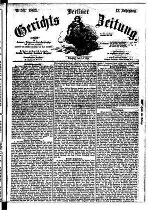 Berliner Gerichts-Zeitung vom 16.05.1865