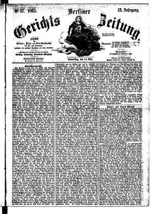 Berliner Gerichts-Zeitung vom 18.05.1865