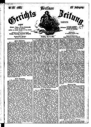 Berliner Gerichts-Zeitung vom 23.05.1865