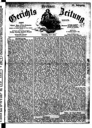 Berliner Gerichts-Zeitung vom 08.06.1865