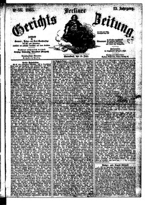 Berliner Gerichts-Zeitung vom 10.06.1865