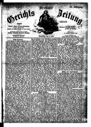 Berliner Gerichts-Zeitung vom 15.06.1865