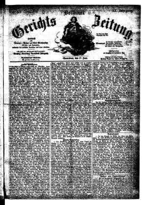 Berliner Gerichts-Zeitung vom 17.06.1865