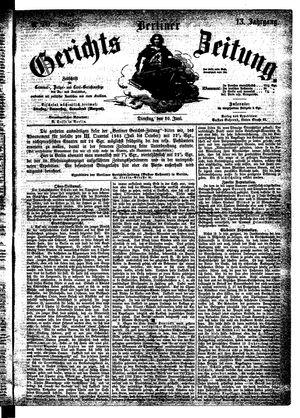 Berliner Gerichts-Zeitung vom 20.06.1865