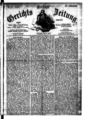 Berliner Gerichts-Zeitung vom 22.06.1865