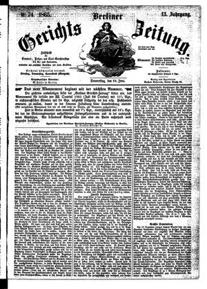 Berliner Gerichts-Zeitung vom 29.06.1865