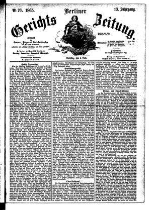 Berliner Gerichts-Zeitung vom 04.07.1865
