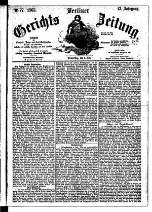 Berliner Gerichts-Zeitung vom 06.07.1865