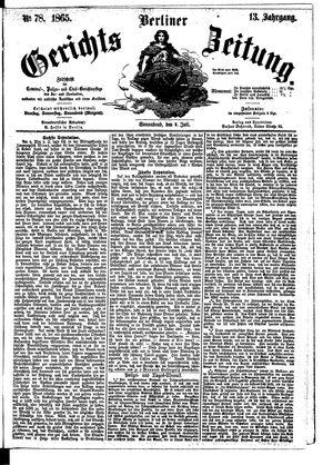 Berliner Gerichts-Zeitung vom 08.07.1865