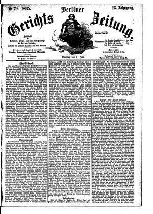 Berliner Gerichts-Zeitung vom 11.07.1865