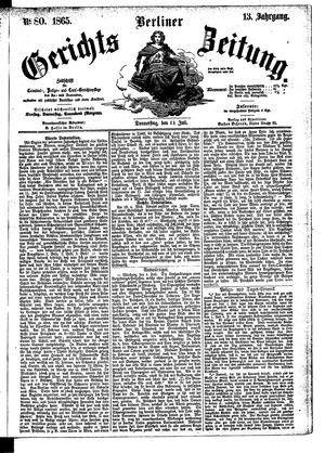 Berliner Gerichts-Zeitung vom 13.07.1865