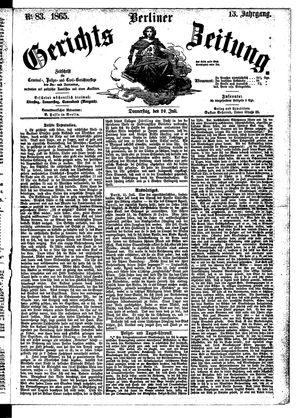 Berliner Gerichts-Zeitung vom 20.07.1865