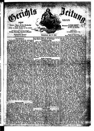 Berliner Gerichts-Zeitung vom 22.07.1865