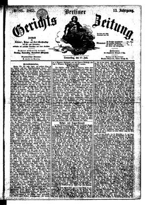 Berliner Gerichts-Zeitung vom 27.07.1865