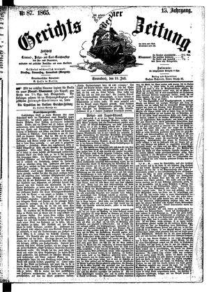 Berliner Gerichts-Zeitung vom 29.07.1865