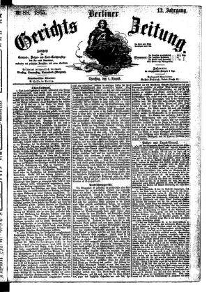 Berliner Gerichts-Zeitung vom 01.08.1865