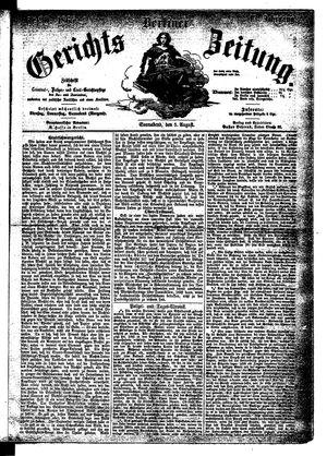 Berliner Gerichts-Zeitung vom 05.08.1865