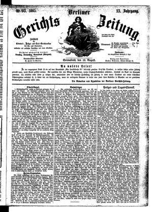 Berliner Gerichts-Zeitung vom 12.08.1865