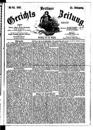 Berliner Gerichts-Zeitung vom 15.08.1865