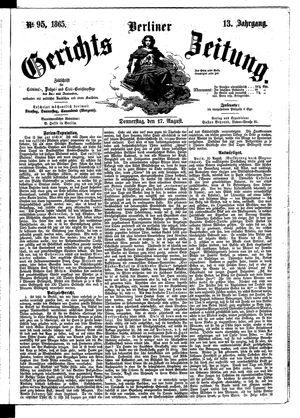 Berliner Gerichts-Zeitung vom 17.08.1865