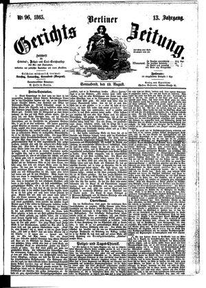 Berliner Gerichts-Zeitung vom 19.08.1865
