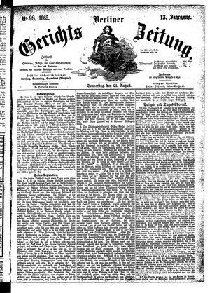 Berliner Gerichts-Zeitung vom 24.08.1865
