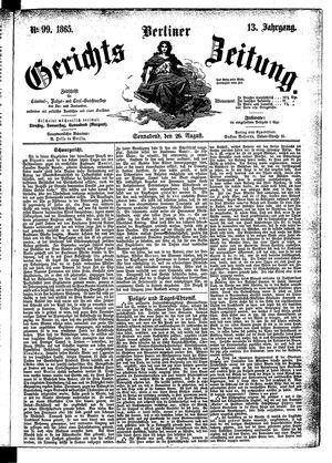 Berliner Gerichts-Zeitung vom 26.08.1865