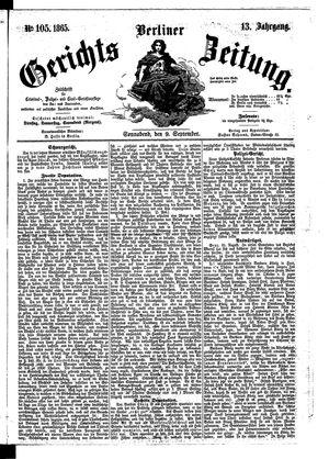 Berliner Gerichts-Zeitung vom 09.09.1865