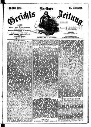 Berliner Gerichts-Zeitung on Sep 12, 1865