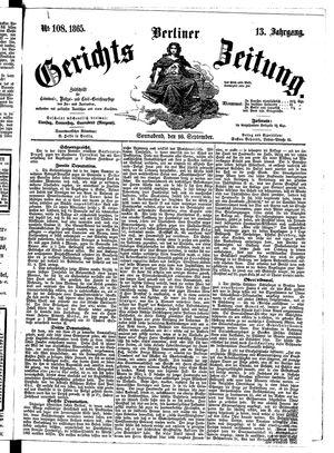 Berliner Gerichts-Zeitung vom 16.09.1865