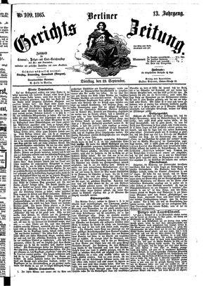 Berliner Gerichts-Zeitung on Sep 19, 1865