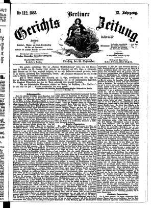 Berliner Gerichts-Zeitung vom 26.09.1865