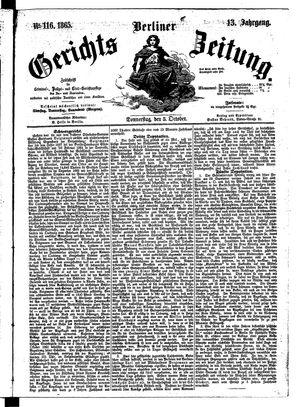 Berliner Gerichts-Zeitung vom 05.10.1865