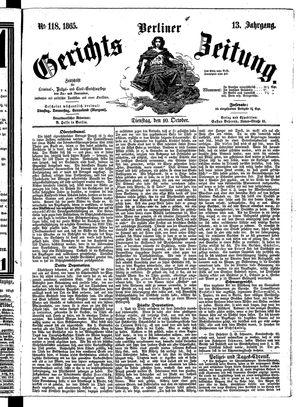 Berliner Gerichts-Zeitung vom 10.10.1865