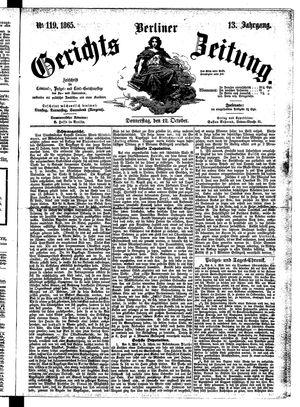 Berliner Gerichts-Zeitung vom 12.10.1865