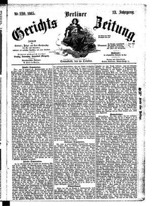 Berliner Gerichts-Zeitung vom 14.10.1865