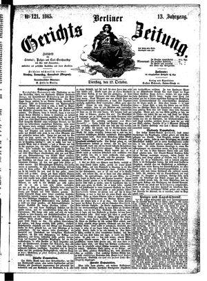 Berliner Gerichts-Zeitung vom 17.10.1865